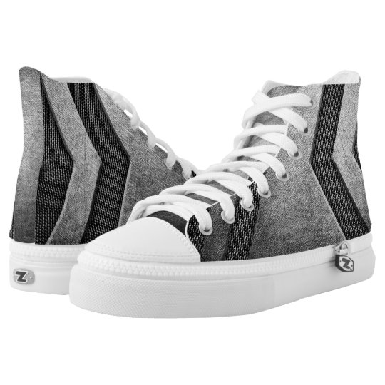 Stainless Steel Modern Design High Top Shoes Printed Shoes