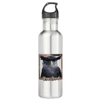 Stainless steel owl water bottle. 710 ml water bottle