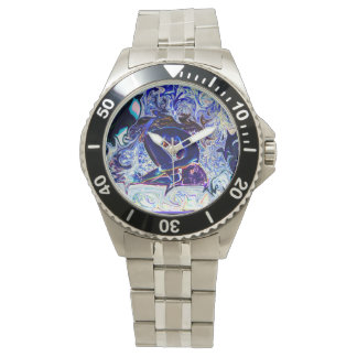 Stainless Steel Purple Rabbit yoga Watch by Depris