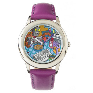 Stainless Steel Purple Watch