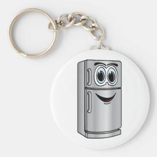 Stainless Steel Refrigerator Cartoon Key Ring