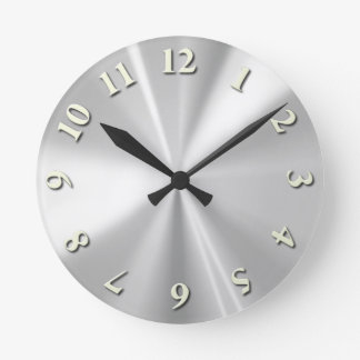 Stainless Steel Round Clock