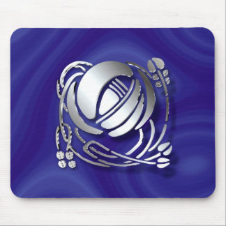 Stainless steel Single Art Nouveau Rose Mouse Pad