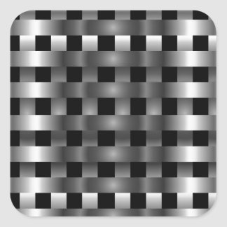 Stainless steel square sticker