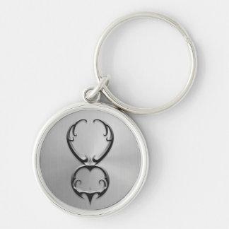 Stainless Steel Taurus Symbol Key Ring