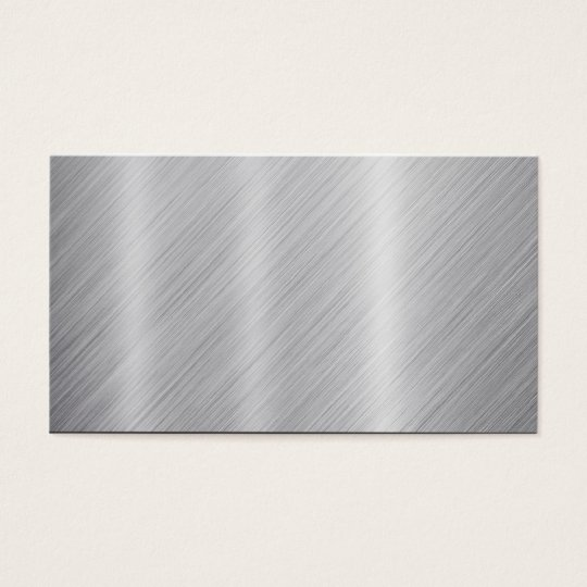 "Stainless Steel texture ""Blank"" Business Card"