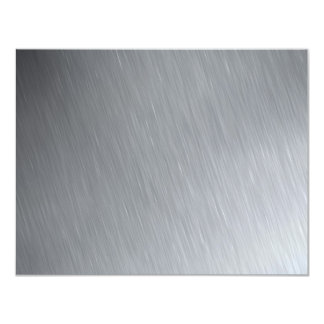 Stainless steel texture with lighting highlights 11 cm x 14 cm invitation card