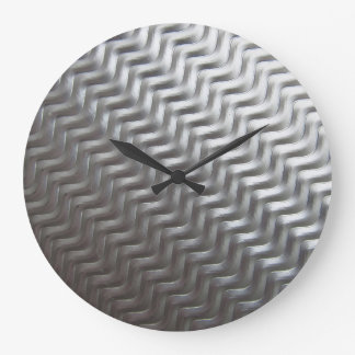 Stainless Steel Textured Industrial Metal Sheet Large Clock