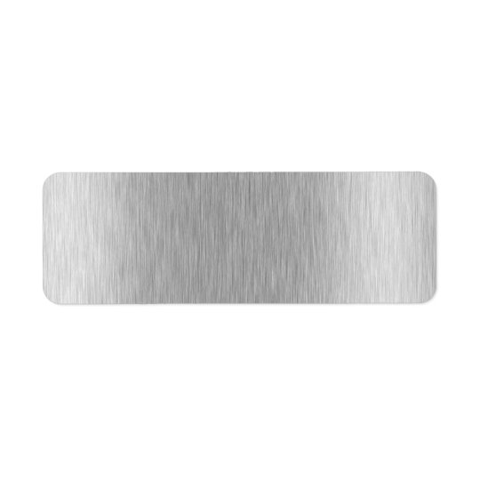 Stainless Steel Textured Return Address Label