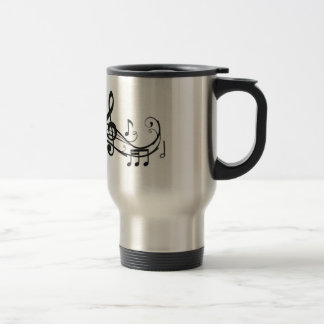 Stainless Steel Travel Mug with Music Notes