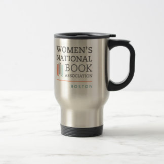 Stainless steel travel mug with WNBA Boston logo