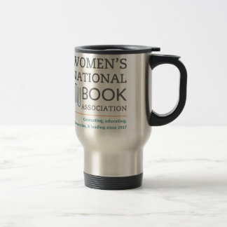 Stainless steel travel mug with WNBA National logo