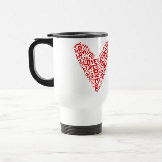 Stainless Steel Valentine Travel Mug