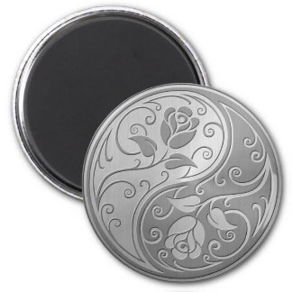 Stainless Steel Yin Yang Roses Refrigerator Magnet