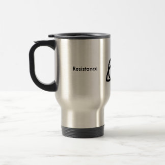 Stainless Travel Mug With the Resistance logo