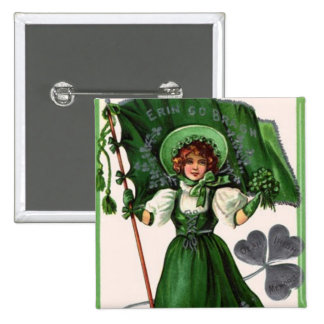 Staint Patrick's day 3 15 Cm Square Badge