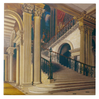 Stair Case, Buckingham House, from 'The History of Tile