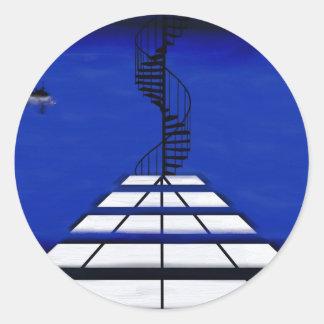 Stair to Where Classic Round Sticker