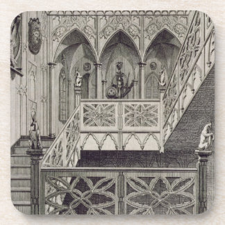 Staircase at Strawberry Hill, engraved by J. Newto Coasters