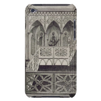 Staircase at Strawberry Hill, engraved by J. Newto iPod Case-Mate Cases