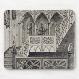 Staircase at Strawberry Hill, engraved by J. Newto Mouse Mat