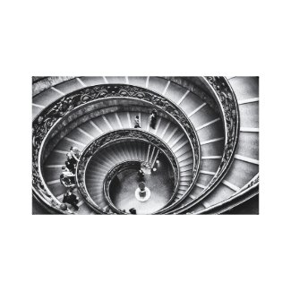 Staircase in black and white print
