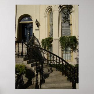 Staircase in Savannah, Georgia Poster