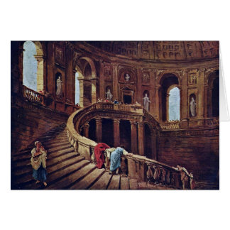 Staircase In The Castle Of Caprarola By Robert Hub Greeting Card