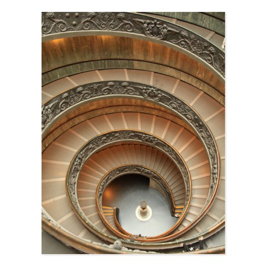 Staircase in Vatican Museum Postcard
