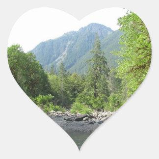 Staircase River Washington Heart Sticker