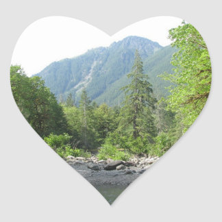 Staircase River, Washington Heart Sticker