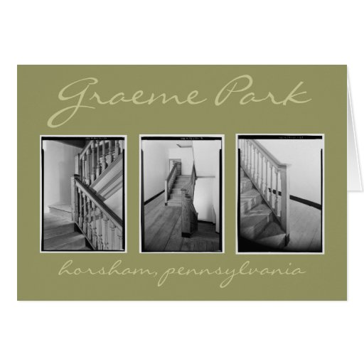 Stairhall at Graeme Park Greeting Card
