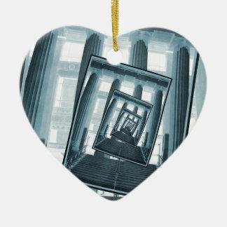 Stairs And Pillars Ceramic Heart Decoration