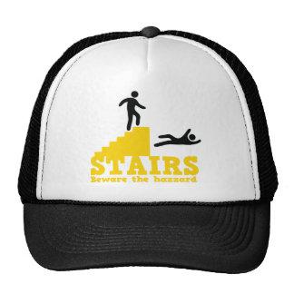 Stairs Beware the Hazzard Trucker Hat