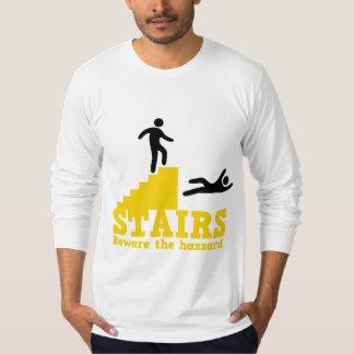Stairs Beware the Hazzard! T-Shirt