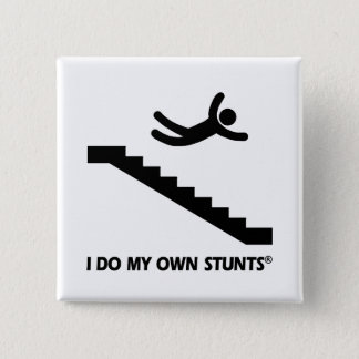 Stairs My Own Stunts 15 Cm Square Badge