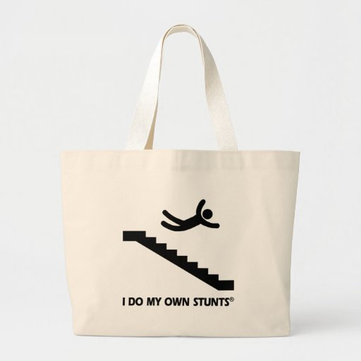 Stairs My Own Stunts Canvas Bags
