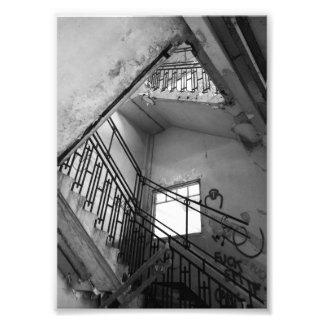 stairs up photo print