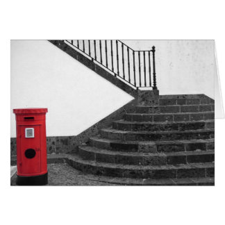 Stairway and post box card