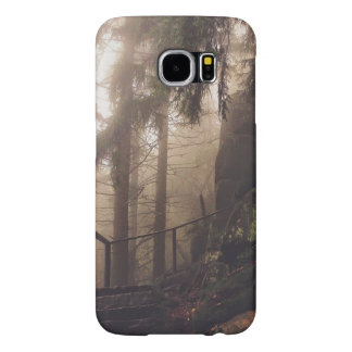 Stairway in woods at dawn samsung galaxy s6 cases