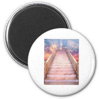 stairway to heaven 6 cm round magnet