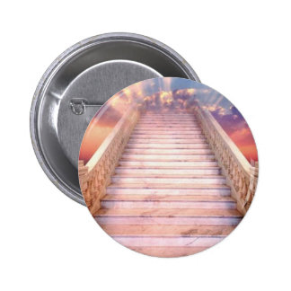 stairway to heaven 6 cm round badge