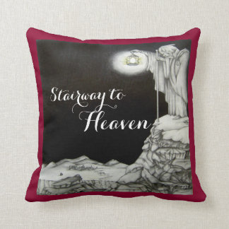 Stairway to Heaven Pillow Red Throw Cushion