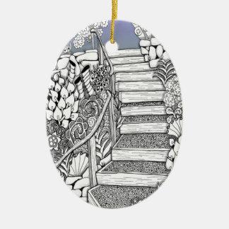Stairway to Heaven Zentangle Christmas Tree Ornament