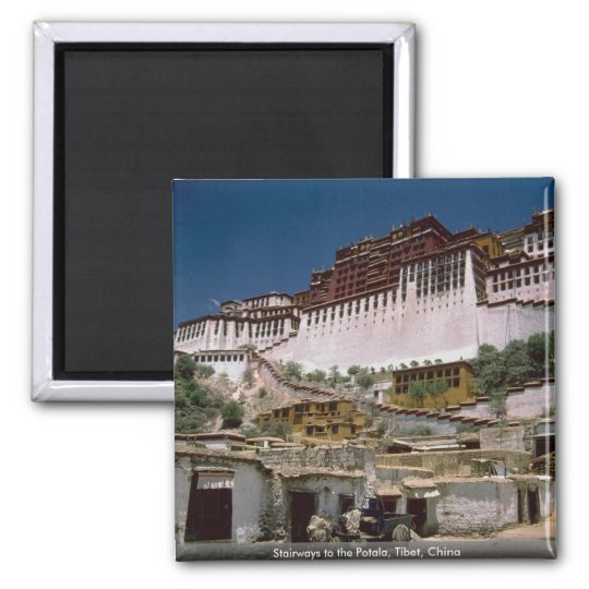 Stairways to the Potala, Tibet, China Square Magnet