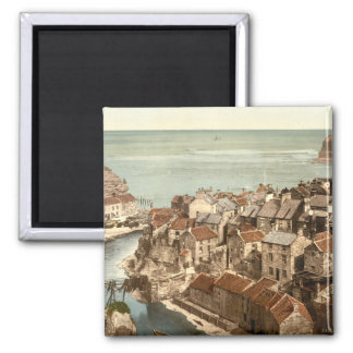 Staithes, Yorkshire, England Square Magnet