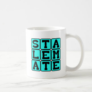 Stalemate, Competitive Standstill in Chess Basic White Mug