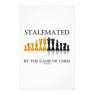 Stalemated By The Game Of Chess (Reflective Chess) Personalised Stationery