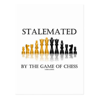 Stalemated By The Game Of Chess (Reflective Chess) Postcard