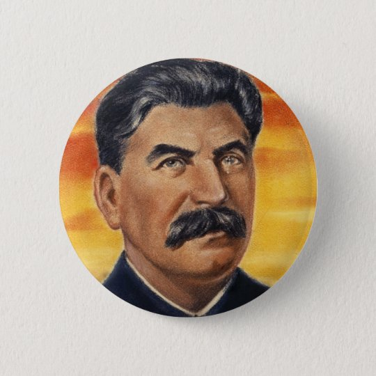 stalin 6 cm round badge